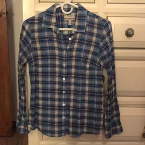 J Crew Button Down Flannel Perfect shirt size 2